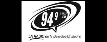 94,9 CiEU FM, La radio de la Baie-des-Chaleurs